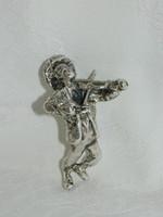 925 ezüst hegedülő figura