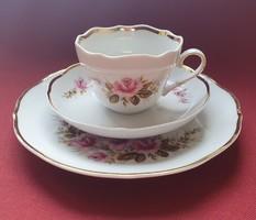 Triptis porcelán reggeliző szett 3 részes (csésze, csészealj, kistányér)