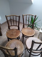 Thonet chairs (4 pcs) with round table