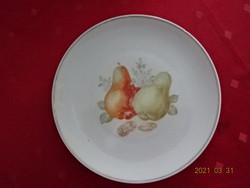 Bavaria német minőségi porcelán süteményes tányér, körte mintával.
