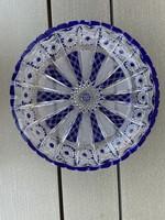 Gyönyörű kék-fehér ólomkristály tál