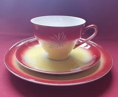 RHA Oscar Lettin porcelán reggeliző szett 3 részes (csésze, csészealj, kistányér)