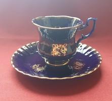 Kobalt német porcelán szett 2 részes (csésze, kistányér)