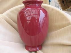 Sötétrózsaszín Silberdistel fényes amfora váza