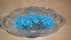 Türkízkék, gyönyörű felvarható gyöngyök csodás dolgok készítésére! ( 115 gr )