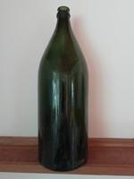 Régi kőbányai zöld üveg, palack, 1,5l