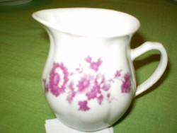 Régi porcelán virágos kis kancsó tejkiöntő 10x12cm. hibátlan