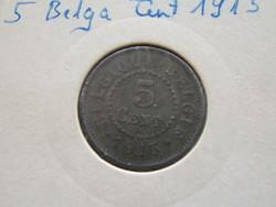 5 Belga Cent Német megszállás 1915 R