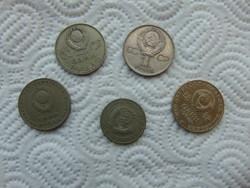 Szovjetunió 5 darab 1 rubel LOT ! 02