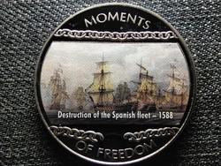 Libéria A szabadság pillanatai A spanyol armada pusztulása - 1588 10 Dollár 2004 PL (id47390)