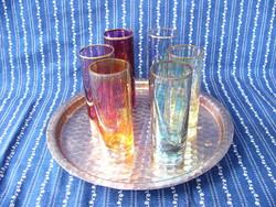 A08 Art deco szines likőrös, pálinkás pohár