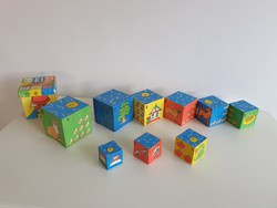 Régi retro papír kockajáték dobozok