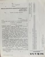 4 db Reich Mór és Fia papírrégiség (1920 és 1940-es Szeged)