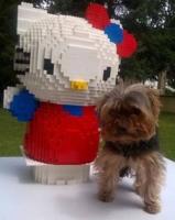 Lego MOC egyedi építés Hello Kitty nem ragasztott szobor hatalmas