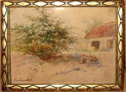 GARANTÁLTAN EREDETI GERHARDT ALAJOSNÉ / 1866- / : FALUSI UDVAR SZEKÉRREL