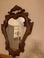 Két db barokk falikar tükörrel