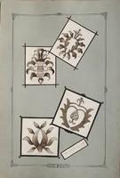 10 darabos szecessziós mintarajz gyűjtemény (XX. század eleje)