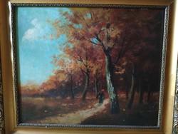 Mona Sándor: Őszi erdő széle
