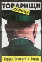 Plakát: Tovarisi konyec 1990