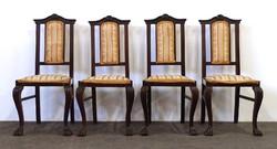 1D857 Antik oroszlánlábas neobarokk szék garnitúra 4 darab