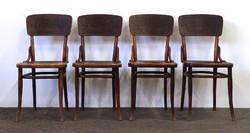 1D855 Antik duplán jelzett 4 darab Tonet szék