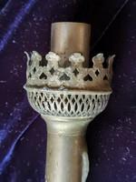 Antik lámpa égőfej gyertyához, lámpaüveg tartó