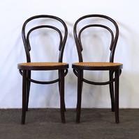 1D852 Gyékényezett támlás Thonet szék pár
