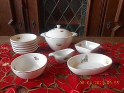 Hollóházi baba porcelán étkészlet