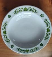 6 db alföldi porcelán mélytányér zöld magyaros dekorral