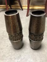 Eladó 2db bronz, virágtartó váza - M403