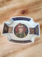Hollóházi ,Faragó Miklós exclusive porcelán tál,tányér