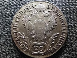 Ausztria II. Ferenc .583 ezüst 20 Krajcár 1814 A (id47430)