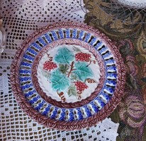 Gyönyörű Villeroy&Boch Schramber tányér, majolika tányér, Gyűjtői, ritka szépség