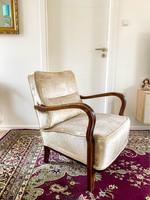 Art deco fotel - Angol bársony kárpitozás