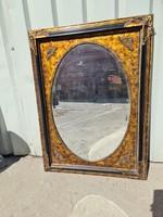 Ovális aranyozott tükör