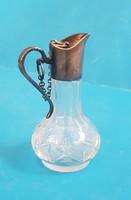 Régi üveg, ezüst szereléssel