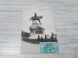 Antik képeslap. Budapest. Jenő herceg szobra.