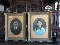 Nagy antik képkeretek párban