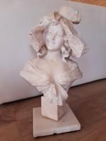 Alabaster female bust