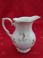 Német porcelán, antik, aranyszegélyes tejkiöntő, magassága 10,5 cm.