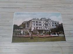 Antik képeslap. Balatonfüred. Erzsébetudvar gyógyfürdő.