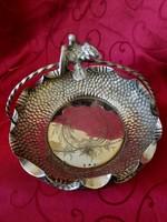 Antik ezüst asztalközép, kináló !