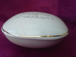 Wartburg vára, látképes, jelzett, porcelán bonbonier.