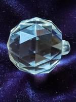 Antik csiszolt kristály csillár függelék gömb, labda