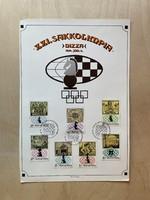XXI. Sakkolimpia Nizza 1974 - emléklap