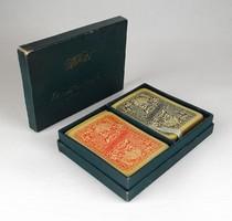1C334 Antik két pakli Piatnik franciakártya eredeti Piatnik dobozában