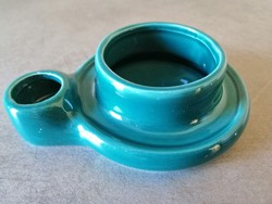 Türkiz színű kerámia dupla gyertyatartó
