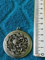 Antik ezüst sárkány medál