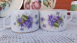 Gyönyörű ritka Zsolnay Ibolyás csésze, csészék , Gyűjtői Gyönyörű szépség