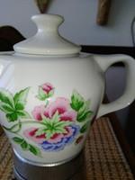 Retro Hollóházi porcelán kávéfőző ,ritka mintás